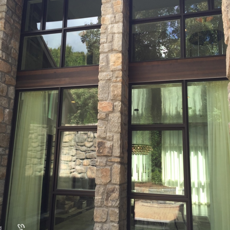 Windsor Dining Room Window Installation Project in the Tuxedo Park Neighborhood in Atlanta.